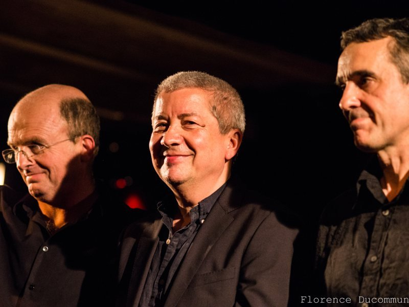 Guillaume de Chassy, Andy Sheppard, Christophe Marguet (avril 2015) ©© Florence Ducommun - 2015